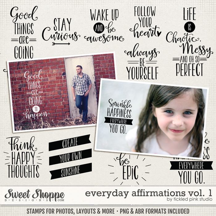 Everyday Affirmations Vol. 1 by Tickled Pink Studio