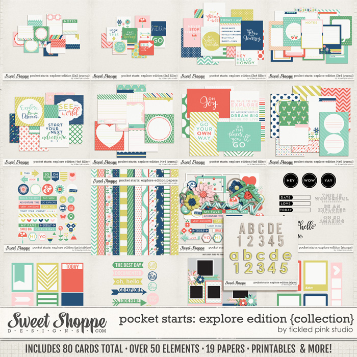 Pocket Starts: Explore Edition Complete Collection by Tickled Pink Studio
