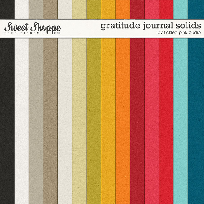 Gratitude Journal Solids by Tickled Pink Studio