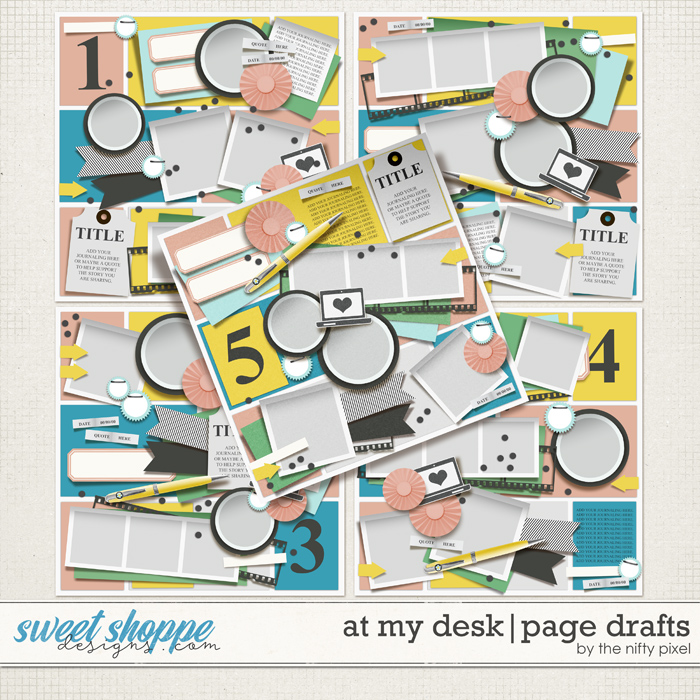 AT MY DESK | PAGE DRAFTS by The Nifty Pixel