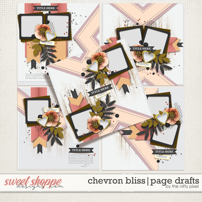 CHEVRON BLISS   PAGE DRAFTS by The Nifty Pixel