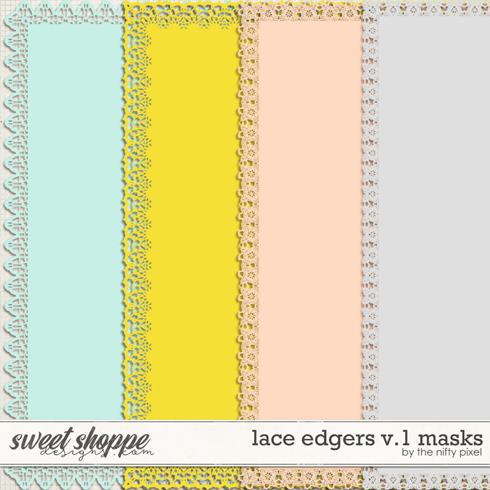 LACE PAGE EDGERS V.1 | CLIPPING MASKS by The Nifty Pixel