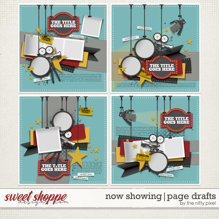 NOW SHOWING   PAGE DRAFTS by The Nifty Pixel