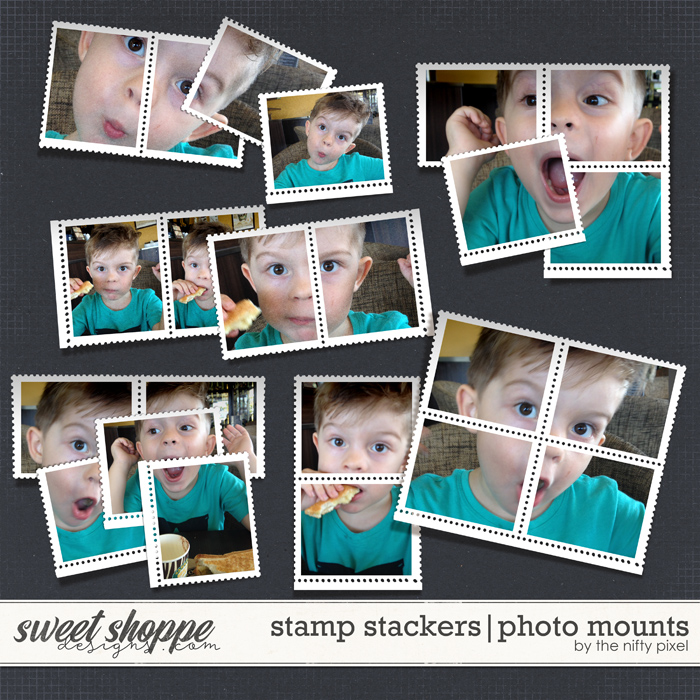 STAMP STACKERS | PHOTO MOUNTS by The Nifty Pixel