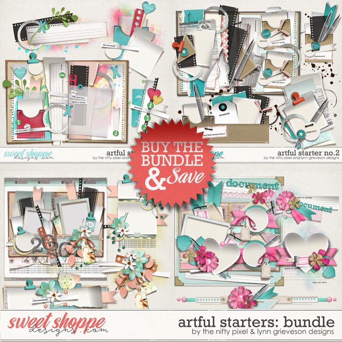 ARTFUL STARTERS No.1-4 | Bundle by The Nifty Pixel & Lynn Grieveson Designs