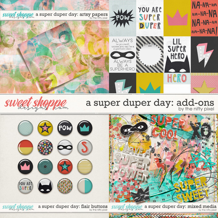 A SUPER DUPER DAY   ADD-ONS by The Nifty Pixel