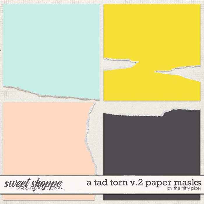 A TAD TORN V.2 | CLIPPING MASKS by The Nifty Pixel