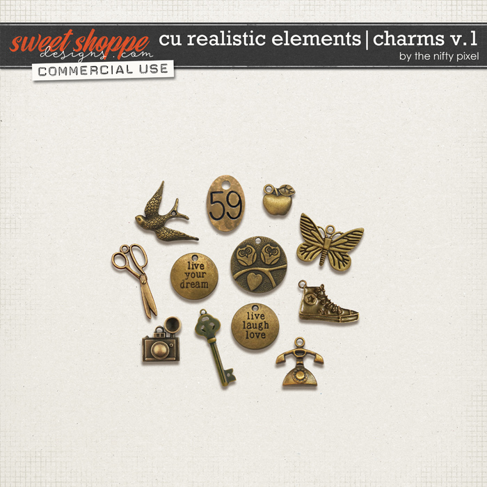 CU REALISTIC ELEMENTS | CHARMS Vol.1 by The Nifty Pixel