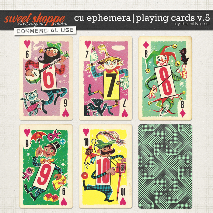 CU EPHEMERA | PLAYING CARDS V.5 by The Nifty Pixel