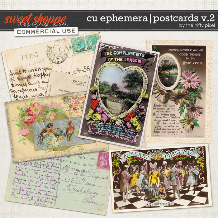 CU EPHEMERA | POSTCARDS V.2 by The Nifty Pixel