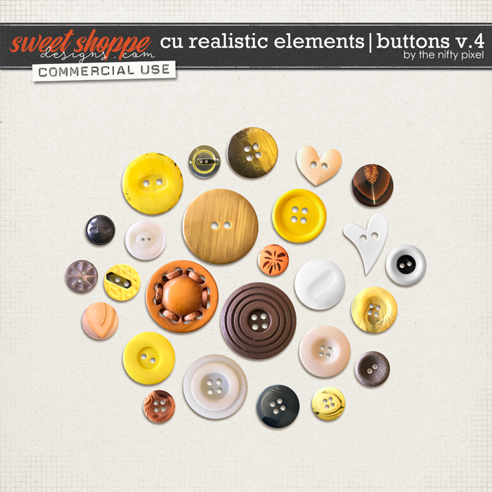 CU REALISTIC ELEMENTS | BUTTONS V.4 by The Nifty Pixel