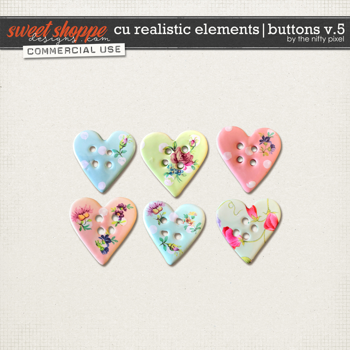 CU REALISTIC ELEMENTS   BUTTONS V.5 by The Nifty Pixel
