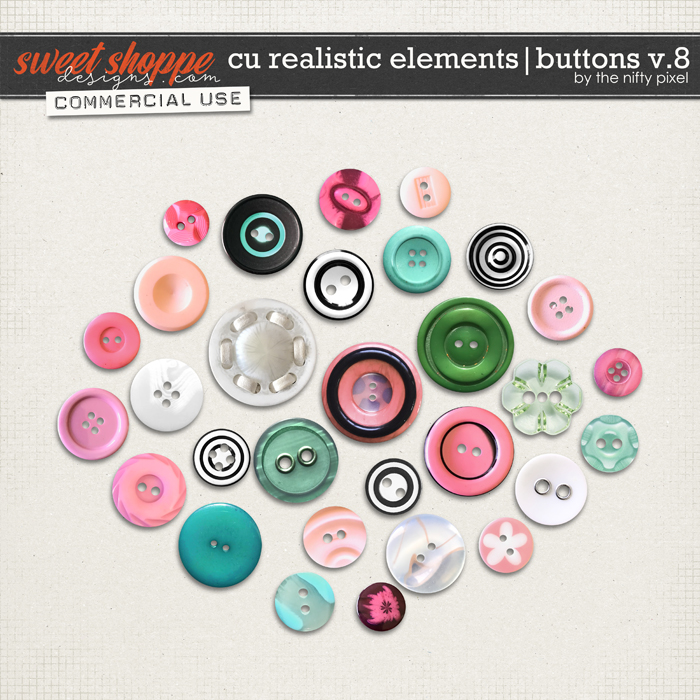 CU REALISTIC ELEMENTS | BUTTONS V.8 by The Nifty Pixel