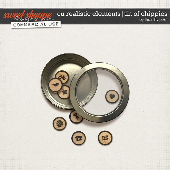 CU REALISTIC ELEMENTS   TIN OF CHIPPIES by The Nifty Pixel
