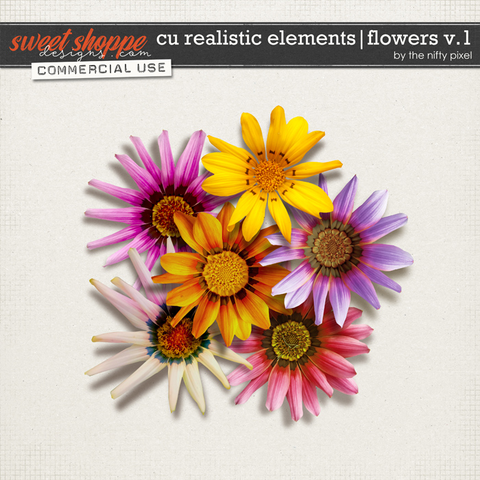 CU REALISTIC ELEMENTS   FLOWERS V.1 by The Nifty Pixel
