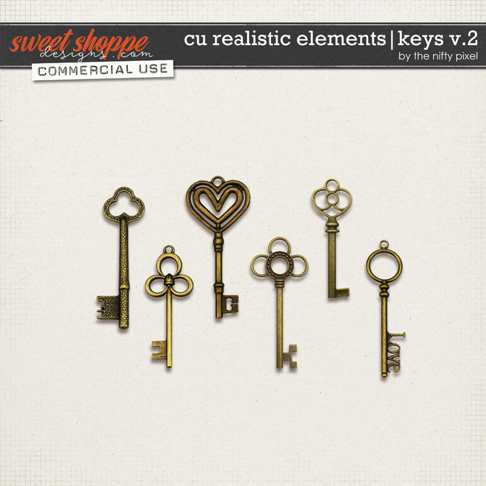 CU REALISTIC ELEMENTS   KEYS V.2 by The Nifty Pixel