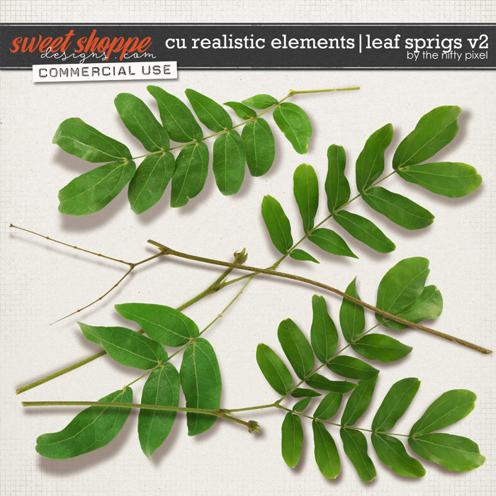 CU REALISTIC ELEMENTS   LEAF SPRIGS V.2 by The Nifty Pixel