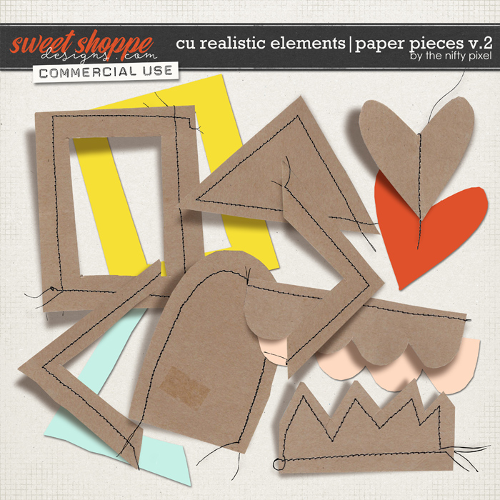 CU REALISTIC ELEMENTS | PAPER PIECES V.2 by The Nifty Pixel
