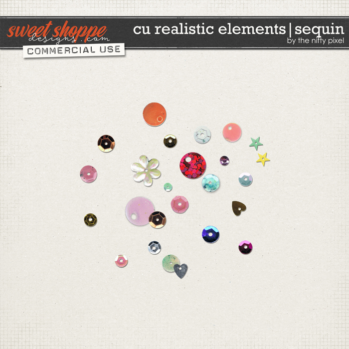 CU REALISTIC ELEMENTS | SEQUIN by The Nifty Pixel