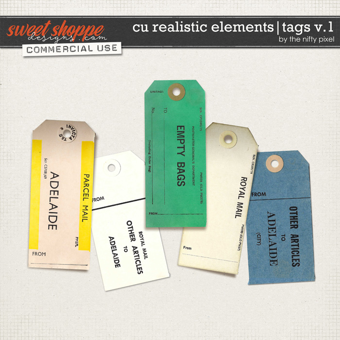 CU REALISTIC ELEMENTS | TAGS V.1 by The Nifty Pixel