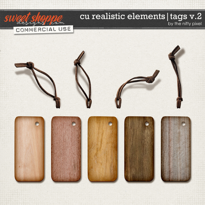 CU REALISTIC ELEMENTS   TAGS V.2 by The Nifty Pixel