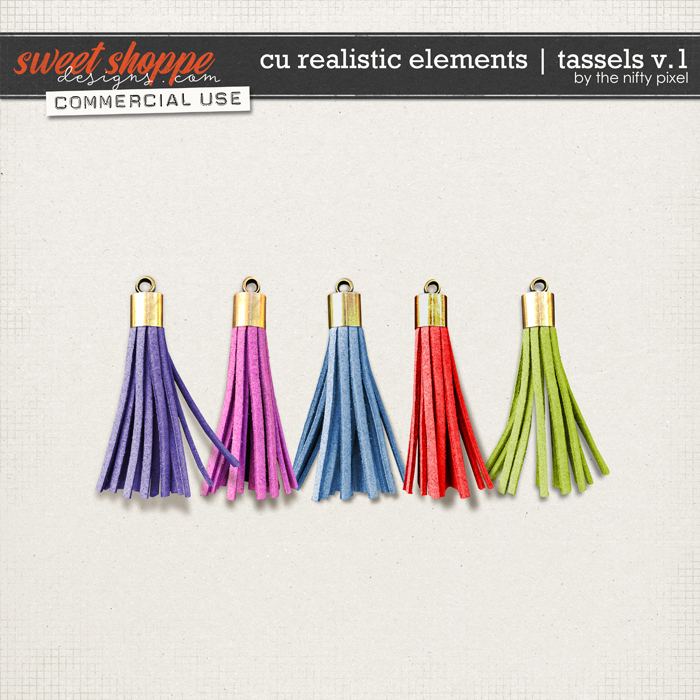 CU REALISTIC ELEMENTS | TASSELS Vol.1 by The Nifty Pixel