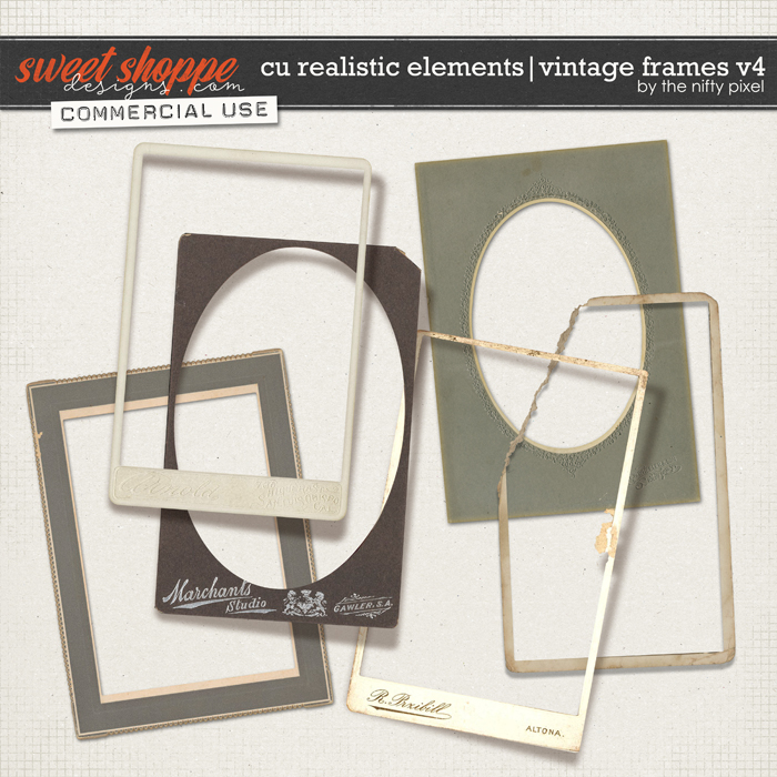 CU REALISTIC ELEMENTS | VINTAGE FRAMES Vol.4 by The Nifty Pixel