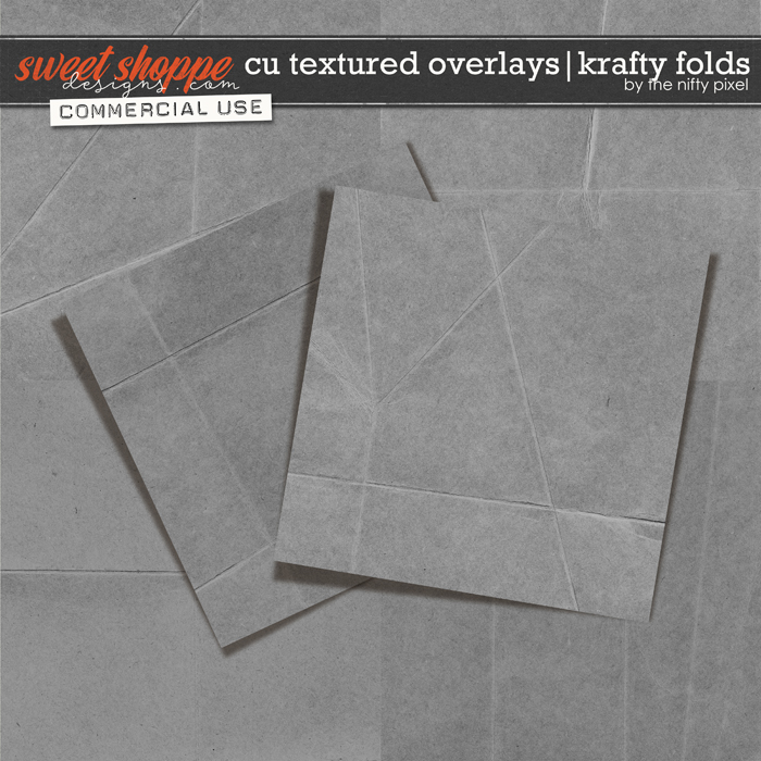 CU TEXTURED OVERLAYS | KRAFTY FOLDS by The Nifty Pixel