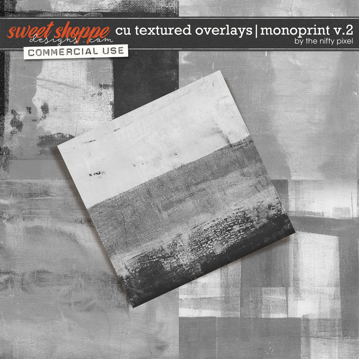 CU TEXTURED OVERLAYS | MONOPRINT V.2 by The Nifty Pixel