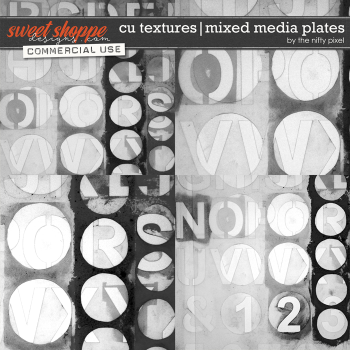 CU TEXTURED OVERLAYS | MIXED MEDIA PLATES by The Nifty Pixel