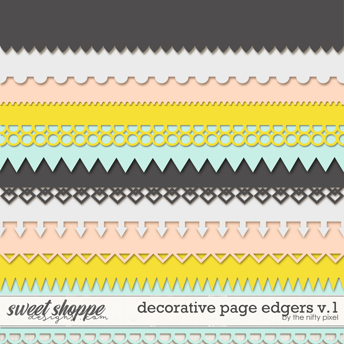 DECORATIVE PAGE EDGERS V.1   CLIPPING MASKS by The Nifty Pixel