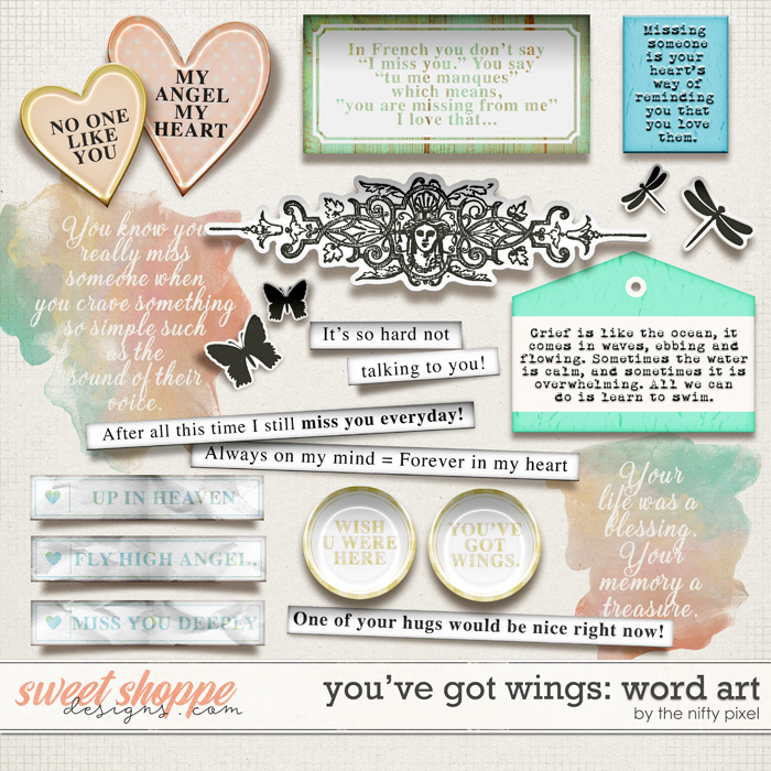 YOU'VE GOT WINGS   WORD ART by The Nifty Pixel