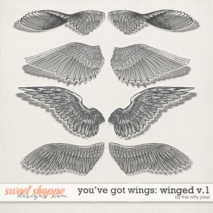 YOU'VE GOT WINGS | WINGED V.1 by The Nifty Pixel