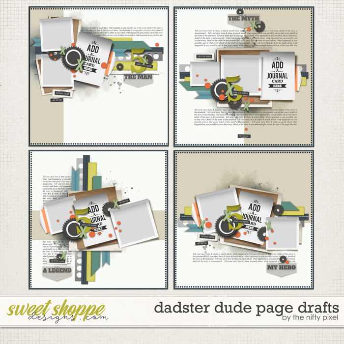 DADSTER DUDE PAGE DRAFTS by The Nifty Pixel