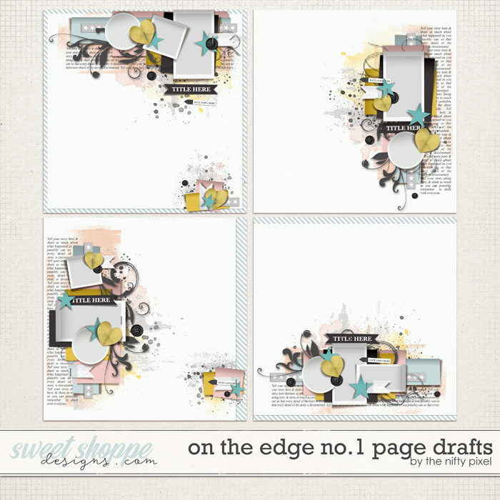 ON THE EDGE No.1 PAGE DRAFTS by The Nifty Pixel