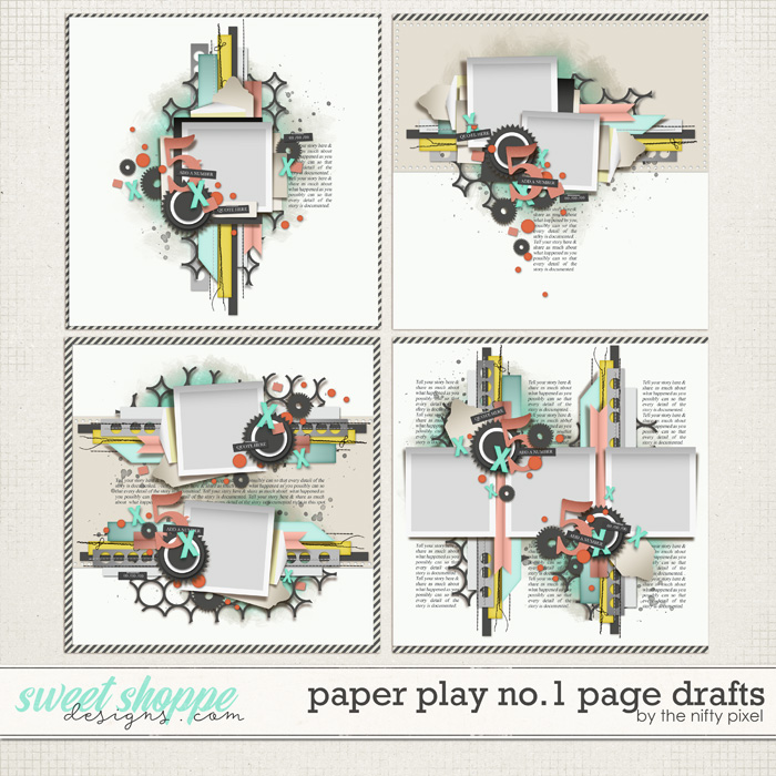 PAPER PLAY No.1 PAGE DRAFTS by The Nifty Pixel