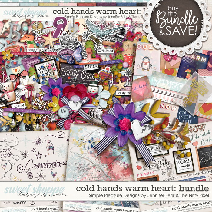 cold hands warm heart bundle: simple pleasure designs & the nifty pixel