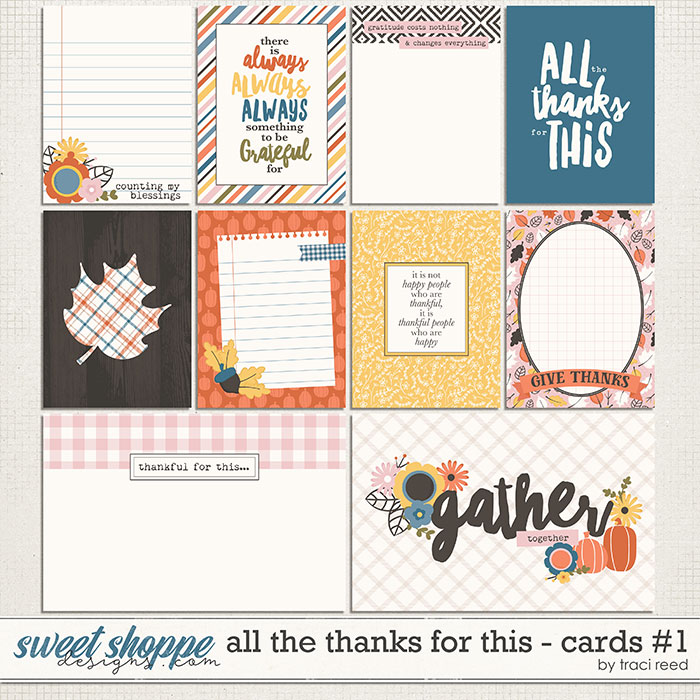 All The Thanks For This Journal Cards #1 by Traci Reed