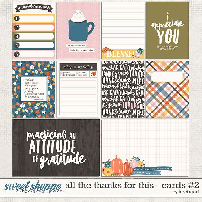All The Thanks For This Journal Cards #2 by Traci Reed