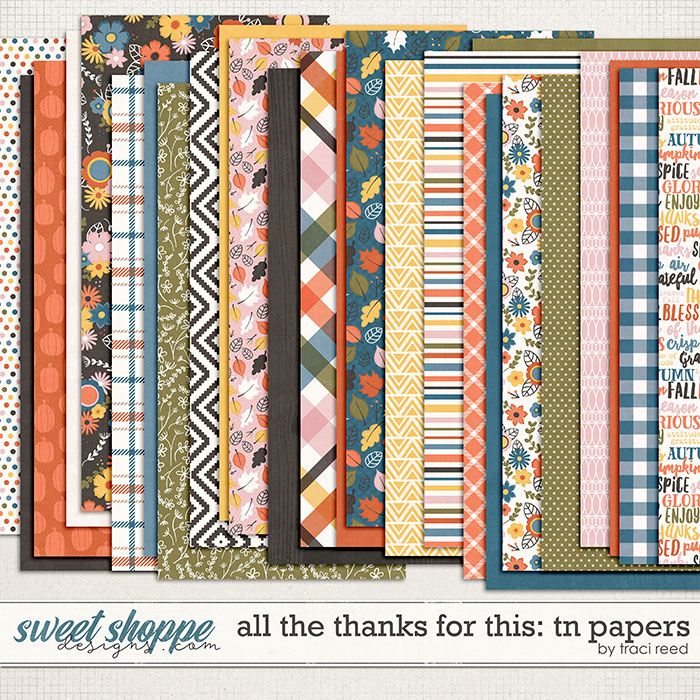 All The Thanks For This Traveler's Notebook Papers by Traci Reed