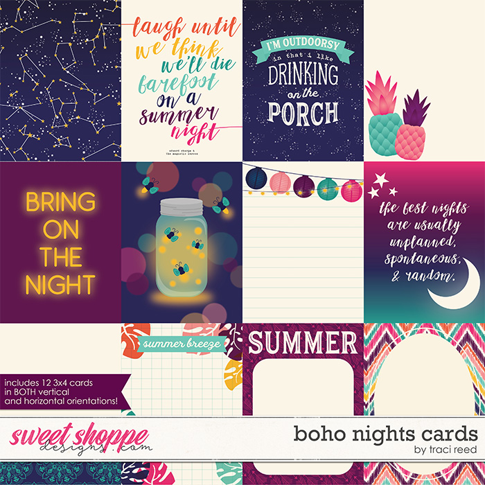 Boho Nights Cards by Traci Reed