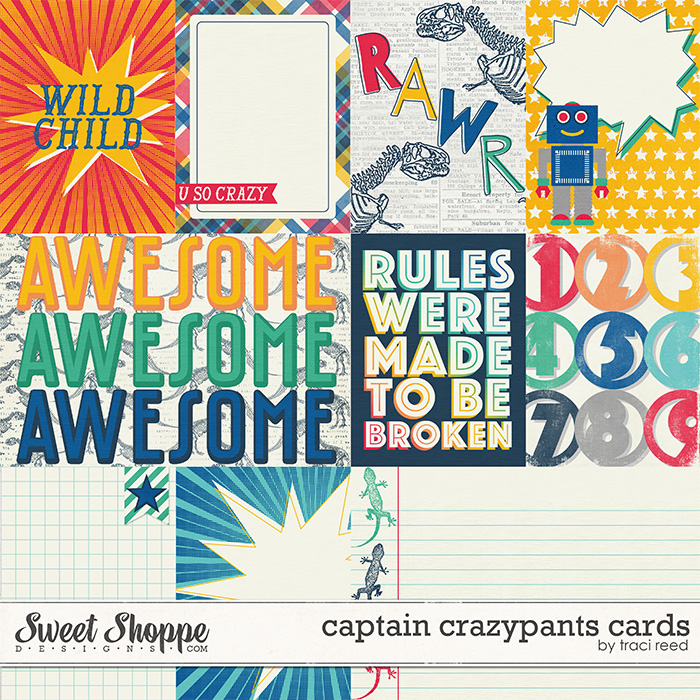 Captain Crazypants Cards by Traci Reed