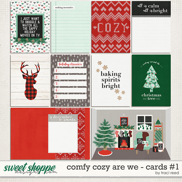 Comfy Cozy Are We 3x4 Cards #1 by Traci Reed