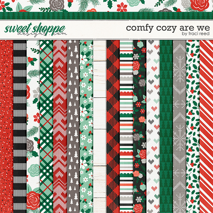 Comfy Cozy Are We 12x12 Papers by Traci Reed