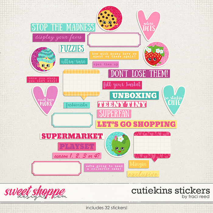 Cutiekins Stickers by Traci Reed