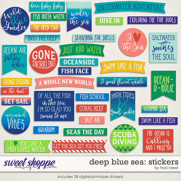 Deep Blue Sea: Stickers by Traci Reed