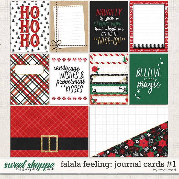 FaLaLa Feeling Journal Cards #1 by Traci Reed