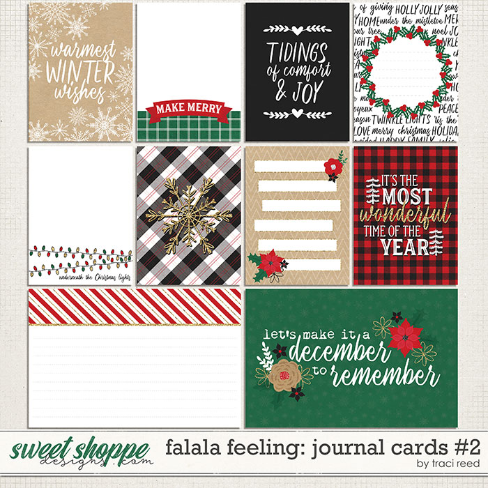 FaLaLa Feeling Journal Cards #2 by Traci Reed