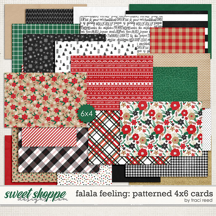 FaLaLa Feeling 4x6 Patterned Cards by Traci Reed