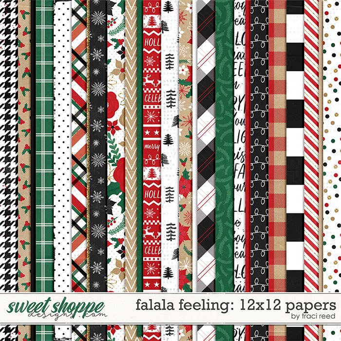 FaLaLa Feeling 12x12 Papers by Traci Reed